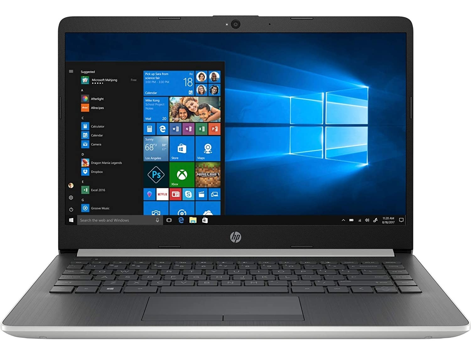 Refurbished laptops & desktops - Part No. 5RE07PAR - HP Laptop Refurbished 14s-cf0055TU IN HP 14 Core i3 7th Gen 14-inch FHD Laptop (4GB/1TB HDD/Win 10/Integrated Graphics/Natural Silver/1.47 kg)