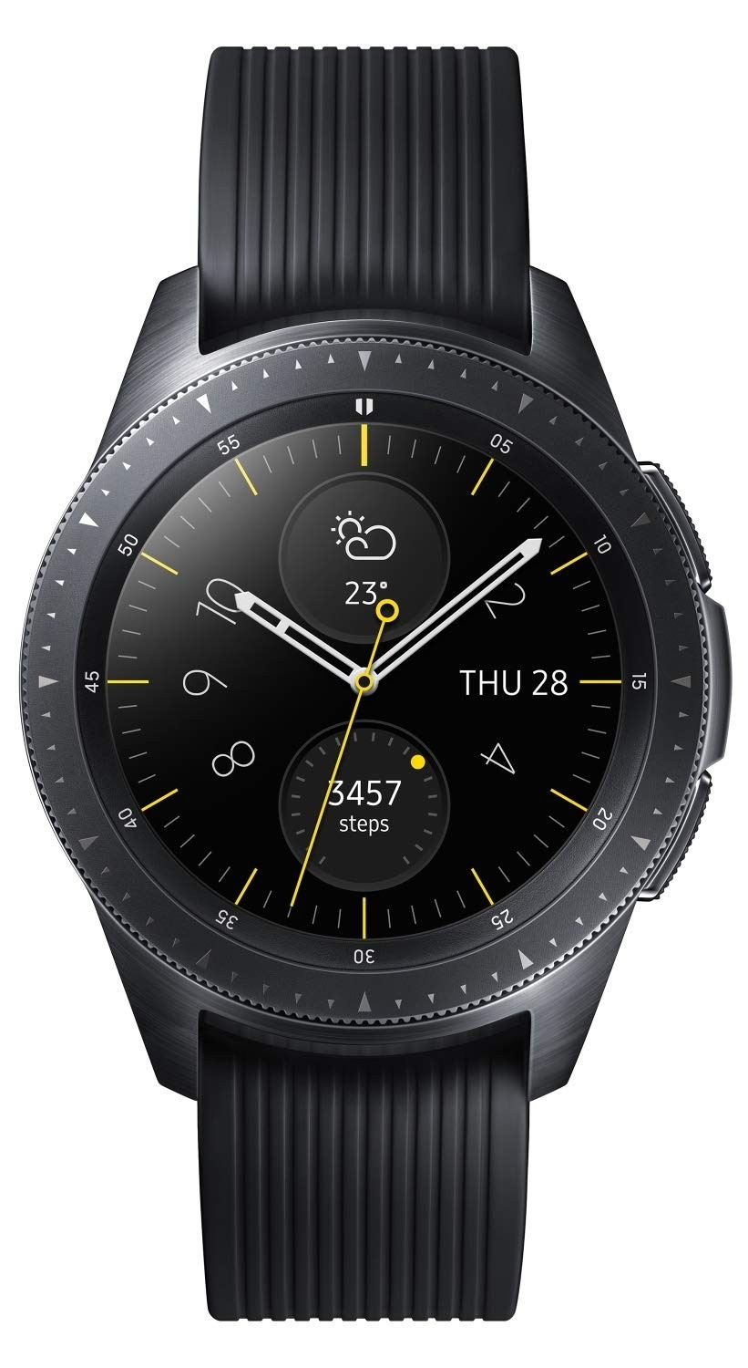 Refurbished laptops & desktops - Samsung Galaxy Watch Smartwatch R810, Midnight Black (SM-R810NZKAINU)