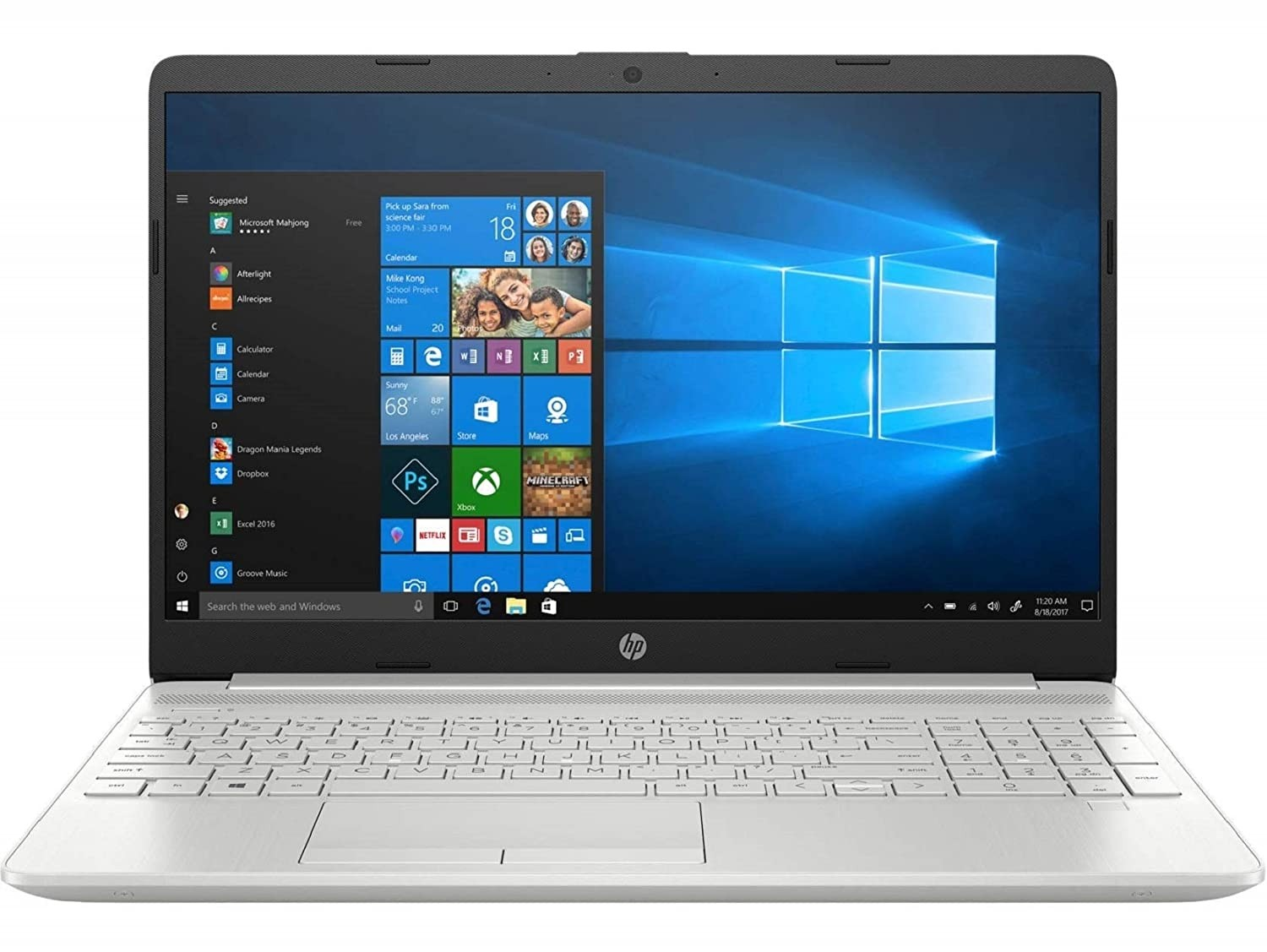 Refurbished laptops & desktops - HP Laptop 15S-Du0096Tu In-Core I5-8265U 8TH Gen/8GB DDR-4/256GB SSD/Windows 10 Home/Intel UHD Graphics 620/2.04 Kg/Natural Silver/15.6-Inch
