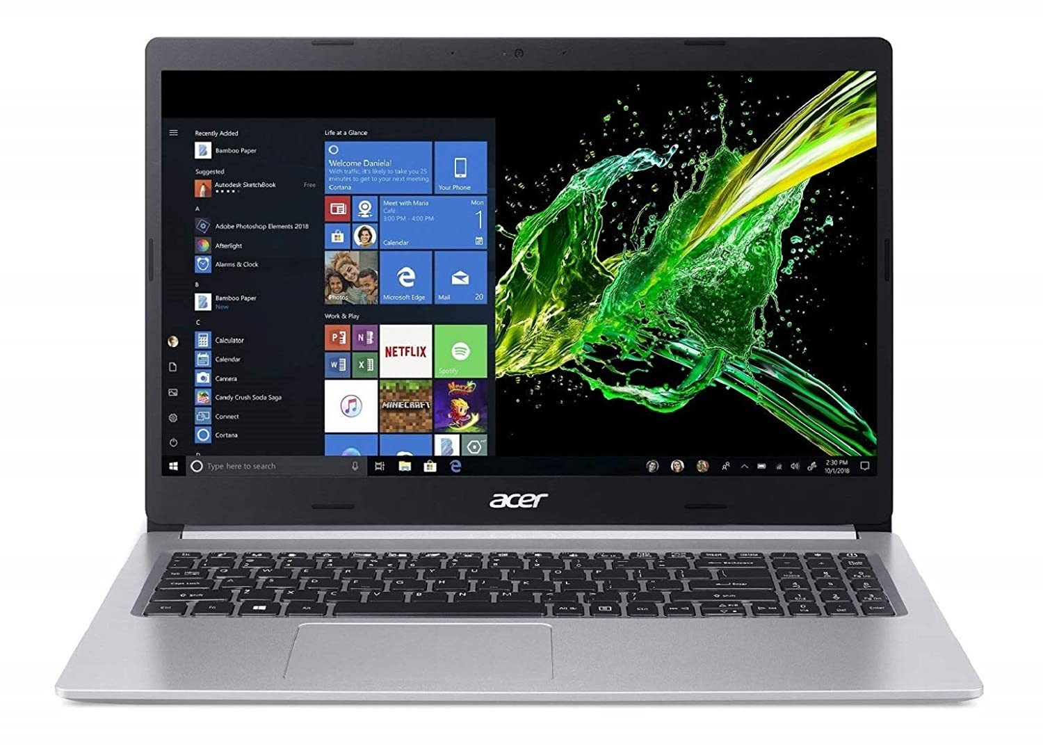 Refurbished laptops & desktops - ACER ASPIRE 5 SLIM A515-52G 15.6-INCH FHD THIN AND LIGHT NOTEBOOK(INTEL CORE I5-8265U WHISKY LAKE PROCESSOR/8GB RAM/2TB HDD + 512 SSD/WIN10/2 GB MX250 GRAPHICS), PURE SILVER