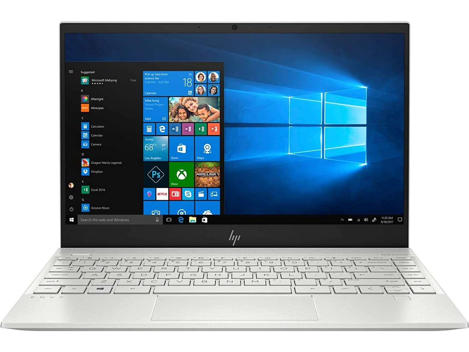 Refurbished laptops & desktops - HP Envy 13-ba0003tu Thin and Light Laptop (Core i5 10th Gen/8 GB/512 GB SSD/Windows 10 Home/MSO H & S 2019/13.3 inch/Natural Silver)