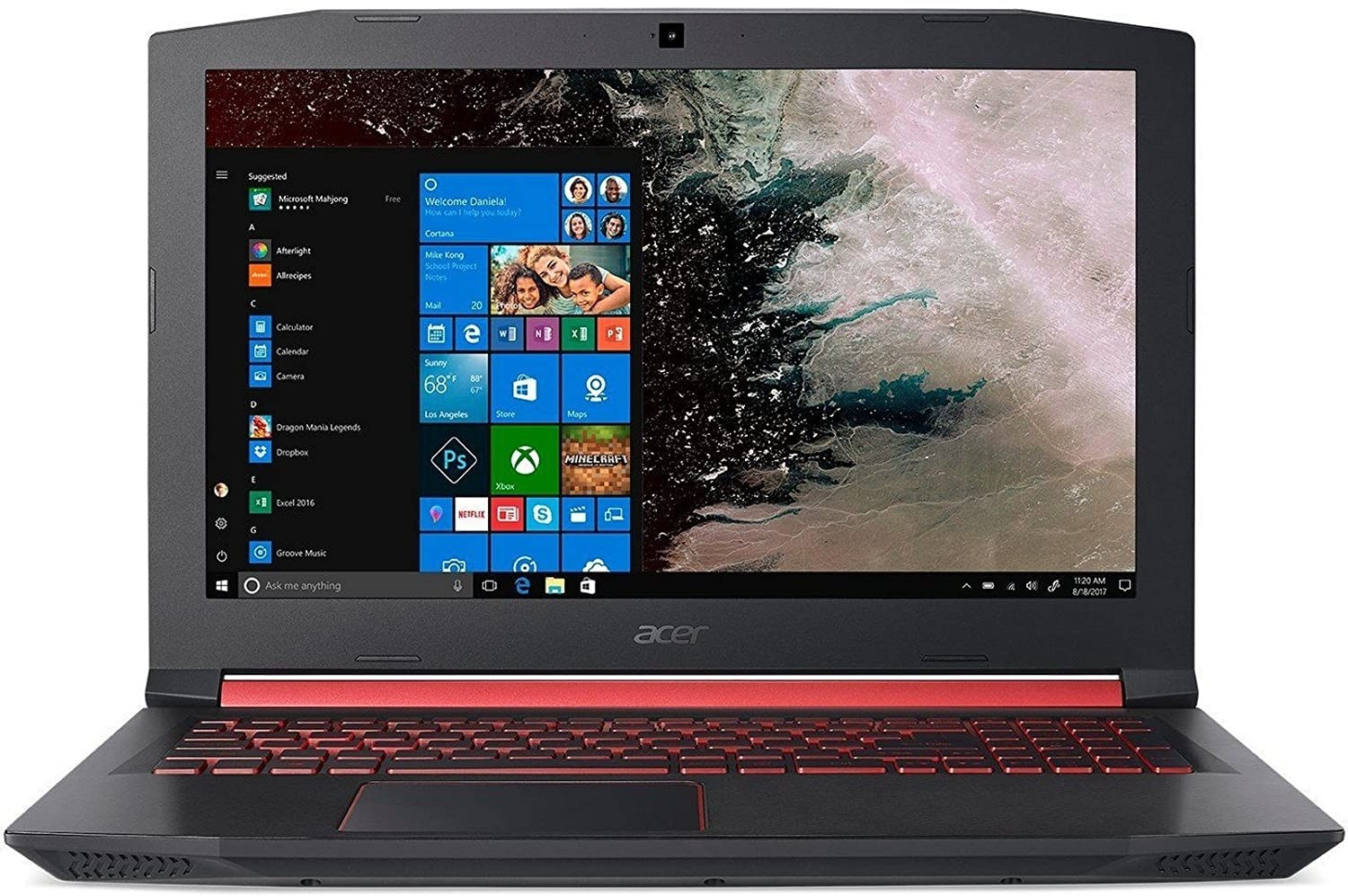 Refurbished laptops & desktops - ACER NITRO 5 AN515-52 15.6-INCH GAMING LAPTOP (8TH GEN INTEL CORE I5-8300H/8GB/1TB + 256GB SSD/WINDOWS 10 HOME 64-BIT/4GB NVIDIA GEFORCE GTX 1050TI GRAPHICS), SHALE BLACK
