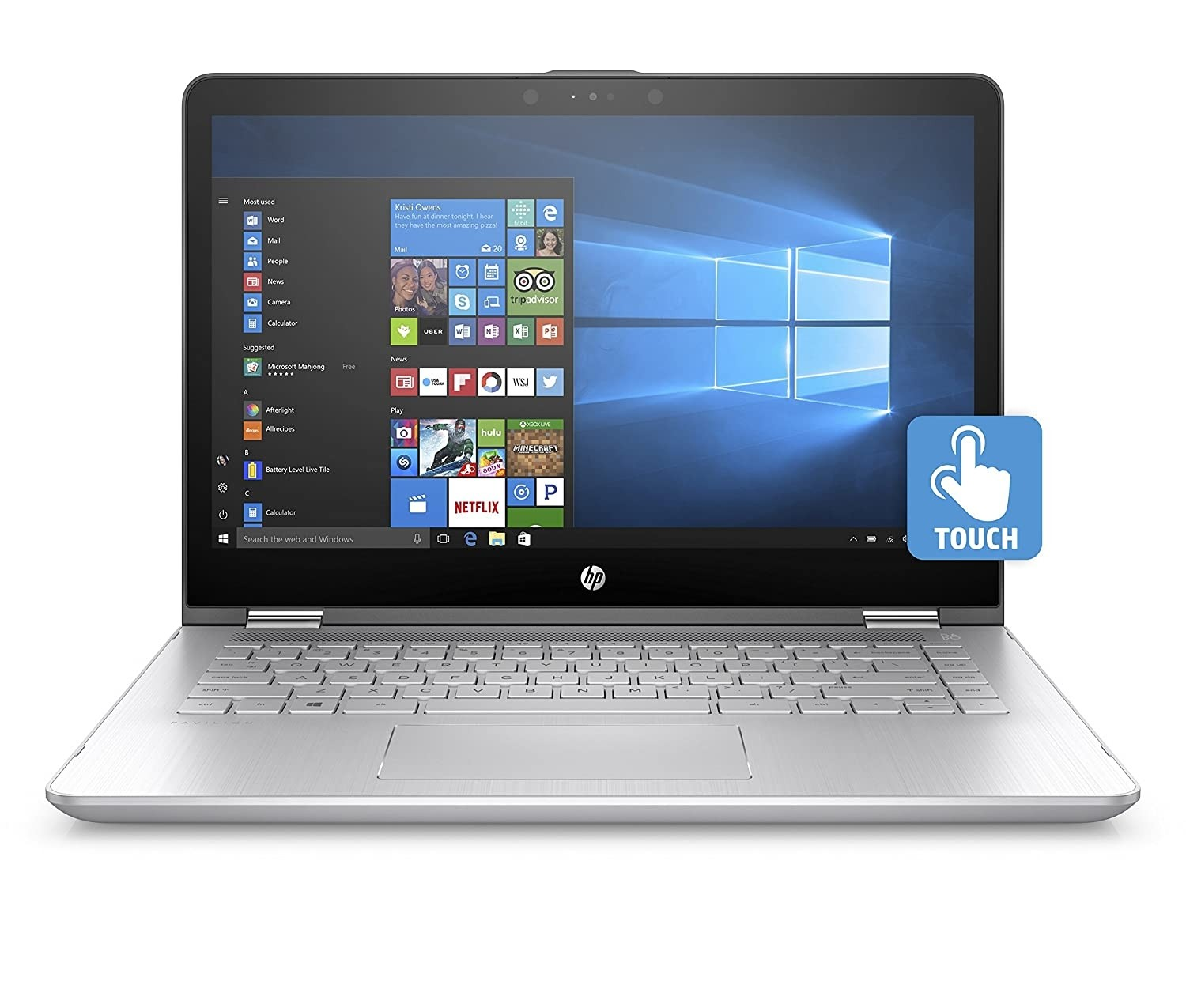 Refurbished laptops & desktops - HP PAVILION X360 CORE I3 7TH GEN 14-INCH TOUCHSCREEN 2-IN-1 THIN AND LIGHT FHD LAPTOP (4GB/1TB HDD/WINDOWS 10/2GB NVIDIA GRAPHIC/NATURAL SILVER)14-BA075TX