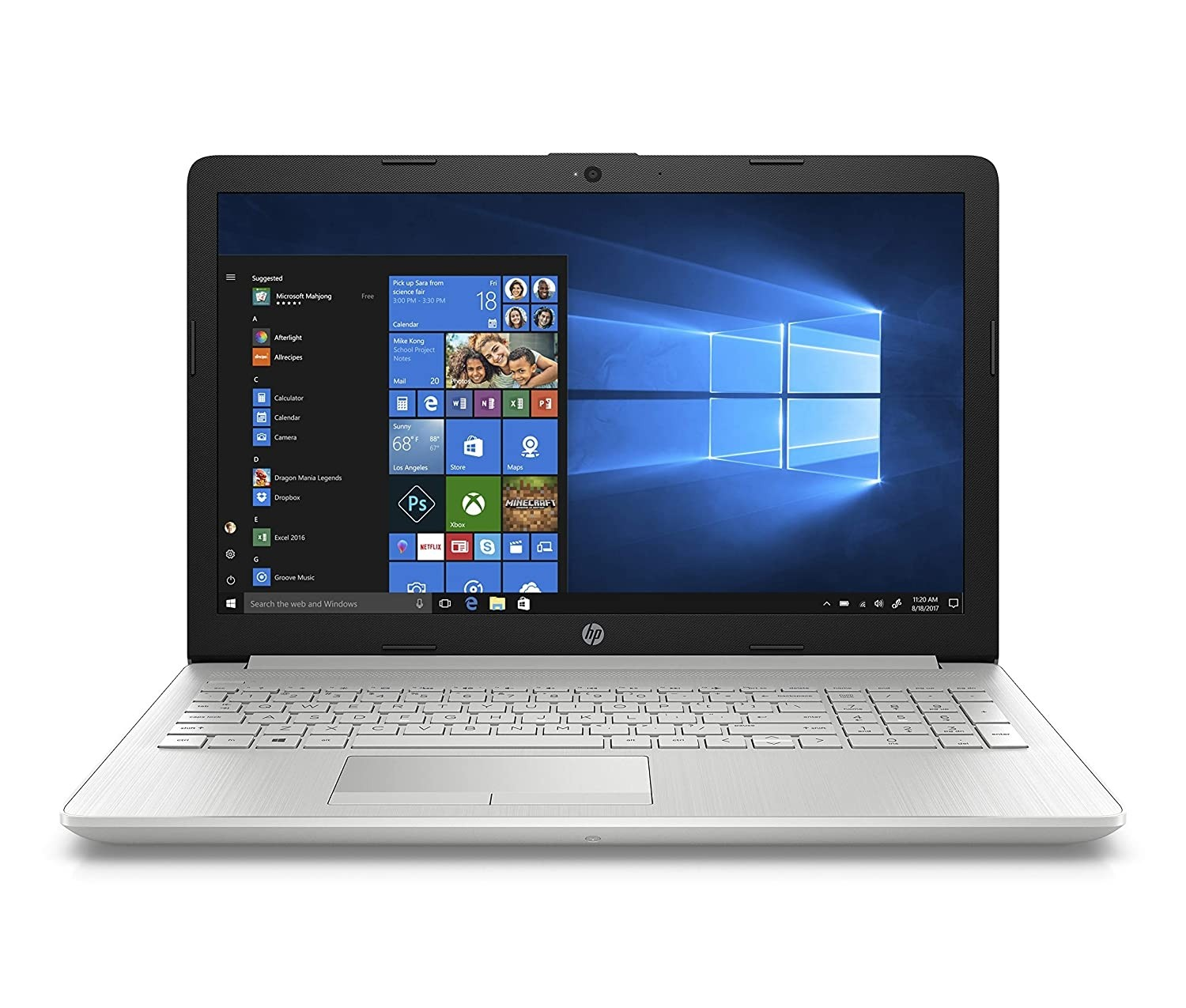 Refurbished laptops & desktops - HP 15 Dr0006Tx 2018 15.6-Inch Laptop (8TH GEN I5-8250U/8GB/1TB/Windows 10 Home/2GB Nvidia Geforce Mx110 Graphics), Natural Silver