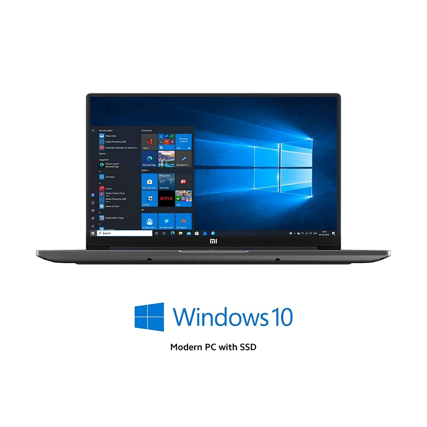 Refurbished laptops & desktops - Mi Notebook Horizon Edition 14 Intel Core I7-10510U 10TH Gen Thin And Light Laptop(8GB/512GB SSD/Windows 10/Nvidia MX350 2GB Graphics/Grey/1.35Kg), XMA1904-AF