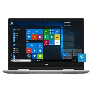 """Refurbished laptops & desktops - Dell Inspiron 5482 14"""" FHD 2In1 Touch Laptop (Core I3/4GB/1TB HDD/Windows 10/Integrated Graphics/Silver) Stylus Pen"""