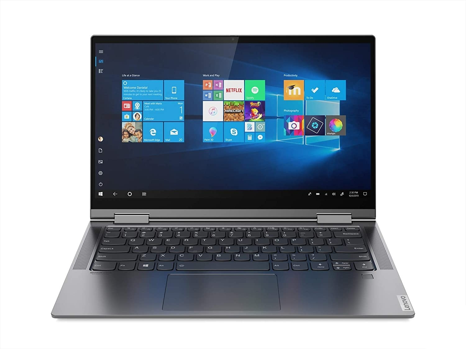 Refurbished laptops & desktops - Lenovo Yoga C740 Intel Core I7 10TH Generation 14 Inch FHD 2 In 1 Convertible Laptop (16GB/512GB SSD/Windows 10/Grey/1.4Kg), 81Tc00B2In