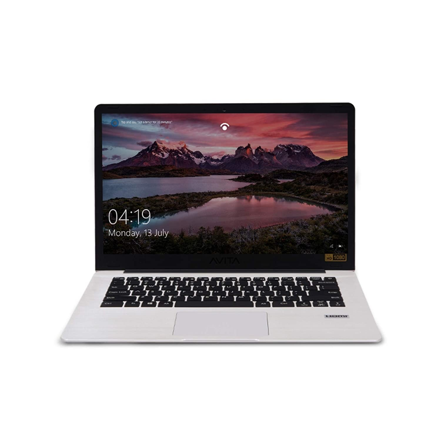 Refurbished laptops & desktops - Avita Pura Ns14A6Inu541-Swgyb 14-Inch Laptop (Amd R3-3200U/8GB/256GB SSD/FHD Display/Windows 10 Home In S Mode/Amd Radeon Vega 3 Graphics/1.34 Kg), Silky White With 3 In 1 Sleeve (Grey)