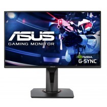 Refurbished laptops & desktops - ASUS 24.5-INCH FULL HD (1920X1080), NVIDIA G-SYNC COMPATIBLE ESPORTS GAMING MONITOR, 0.5MS, UP TO 165 HZ, DP, HDMI, DVI-D, SUPER NARROW BEZEL, FREESYNC, LOW BLUE LIGHT, FLICKER FREE - VG258QR (BLACK)
