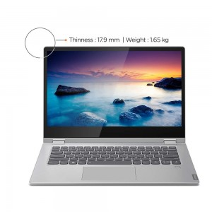 Refurbished laptops & desktops Lenovo Ideapad C340 AMD Ryzen 5 3500U 2 in 1 Convertible 14 inch FHD Laptop (8GB/1TB SSD/Windows 10/Platinum Grey/1.65Kg), 81N6006PIN