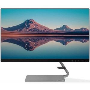 Refurbished laptops & desktops Lenovo 60.4 cm (23.8-inch) FHD Ultra Slim Near Edgeless IPS Monitor with 75Hz, 4ms, HDMI, VGA, AMD FreeSync, Built in Speaker, with Metal Stand, LED Backlit, TUV Certified Eye Comfort - Q24i-10
