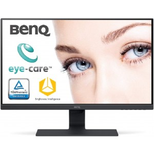 Refurbished laptops & desktops BenQ 27 inch (68.6 cm) Edge to Edge Slim Bezel LED Backlit Computer Monitor - Full HD, IPS Panel with VGA, HDMI, Display, Audio in Ports and in-Built Speakers - GW2780 (Black)