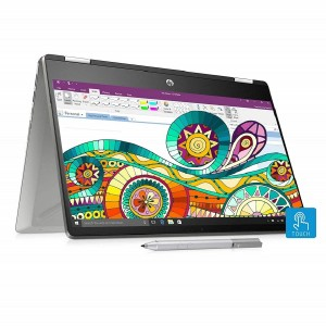 Refurbished laptops & desktops HP Pavilion X360 Core I3 8TH Gen 14-Inch Touchscreen 2-In-1 Thin And Light FHD Laptop (4GB/256GB SSD/Windows 10/Inking Pen/Natural Silver/1.59 Kg), 14-dh0101TU