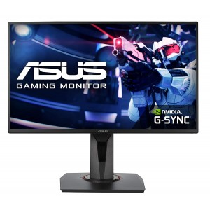 Refurbished laptops & desktops ASUS 24.5-INCH FULL HD (1920X1080), NVIDIA G-SYNC COMPATIBLE ESPORTS GAMING MONITOR, 0.5MS, UP TO 165 HZ, DP, HDMI, DVI-D, SUPER NARROW BEZEL, FREESYNC, LOW BLUE LIGHT, FLICKER FREE - VG258QR (BLACK)