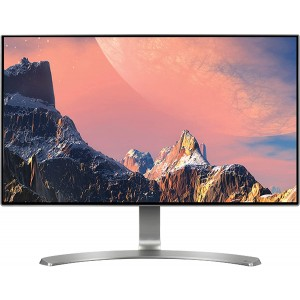 Refurbished laptops & desktops LG 23.8 inch (60.45 cm) Borderless LED Monitor - Full HD, IPS Panel with VGA, HDMI, Audio in/Out Ports and in-Built Speakers - 24MP88HV (Silver/White)