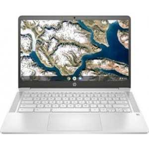 Refurbished laptops & desktops HP Chromebook 14A-Na0003Tu 14-Inch Thin & Light Touchscreen Laptop (Intel N4020/4GB/64GB SSD + 256GB Expandable/Chrome Os/1.46 Kgs Light), Mineral Silver