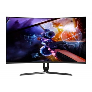 Refurbished laptops & desktops AOPEN 27 inch Full HD 1800R Curve Gaming Monitor I VA Panel I 144Hz Refresh Rate I 4 MS Response Time I AMD Free Sync I Eye Care Features I 27HC1R (Black)