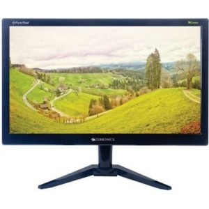 Refurbished laptops & desktops Zebronics 15.6 inch (39.6 cm) LED Monitor - Full HD with VGA, HDMI Ports - ZEB-A16FHD LED (Black)